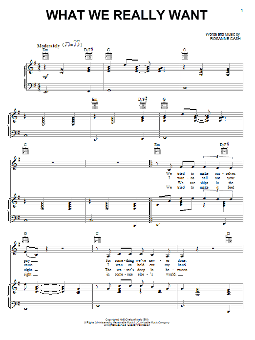 What We Really Want Sheet Music