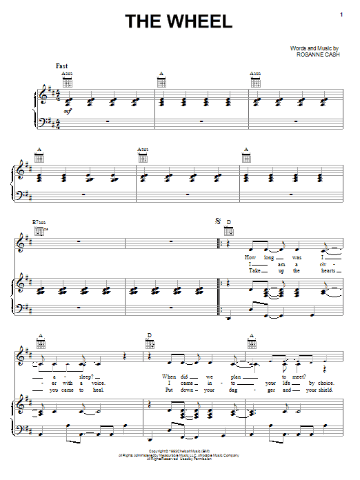 The Wheel (Piano, Vocal & Guitar (Right-Hand Melody))