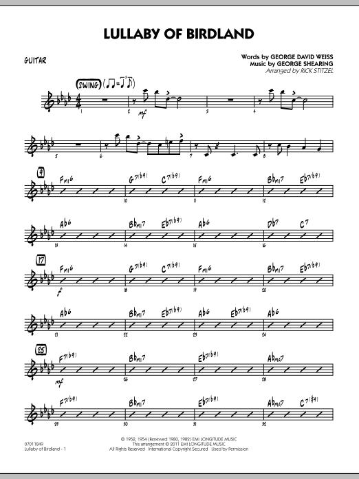 Lullaby Of Birdland - Guitar (Jazz Ensemble)
