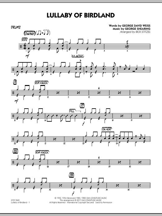 Lullaby Of Birdland - Drums (Jazz Ensemble)