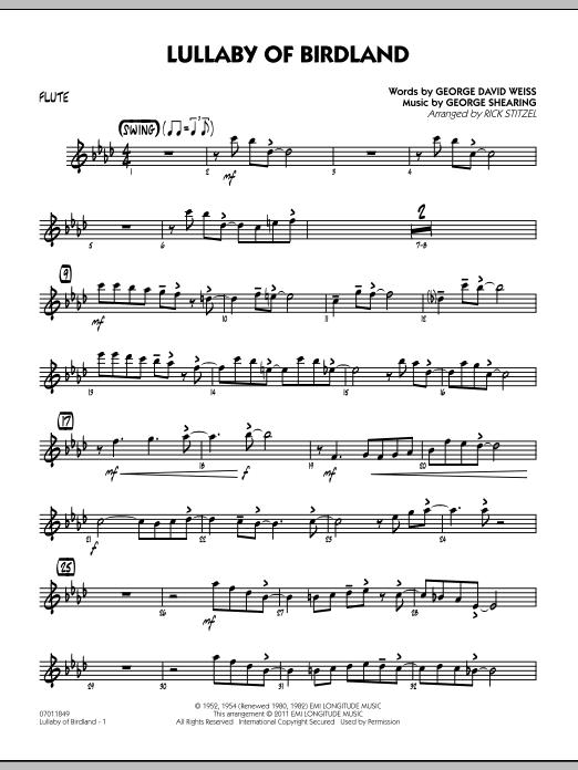 Lullaby Of Birdland - Flute (Jazz Ensemble)