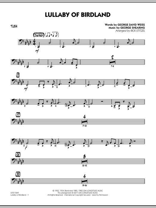Lullaby Of Birdland - Tuba (Jazz Ensemble)