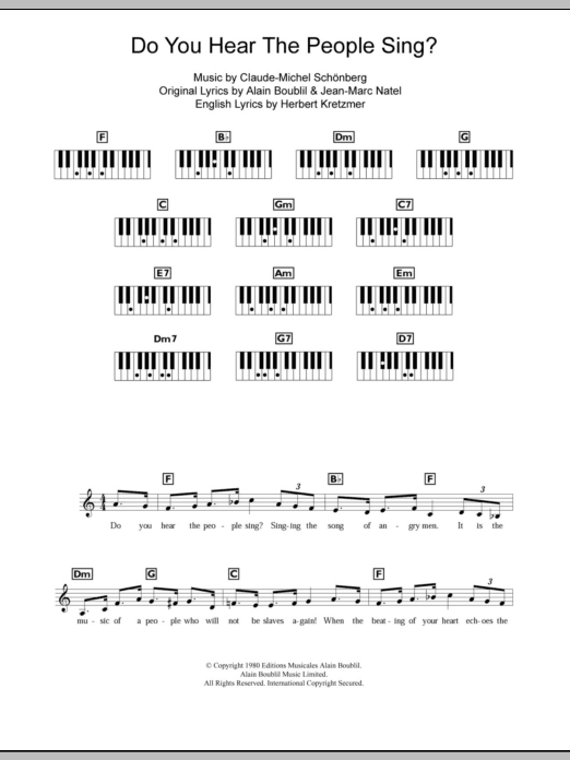 Do You Hear The People Sing? (from Les Miserables) sheet music by ...