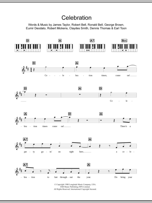Celebration Sheet Music