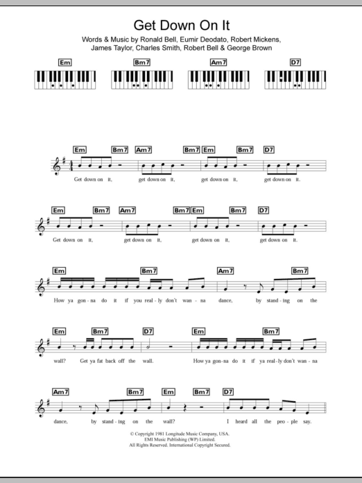 Get Down On It Sheet Music