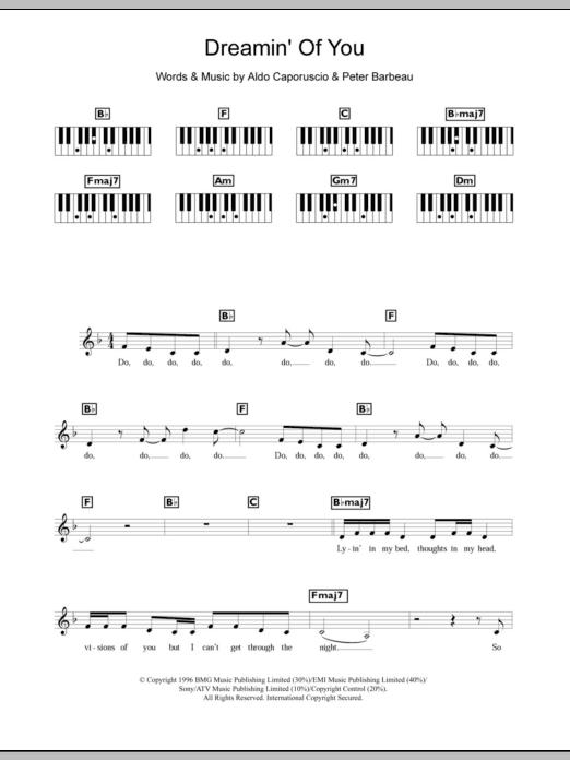 Dreamin' Of You Sheet Music