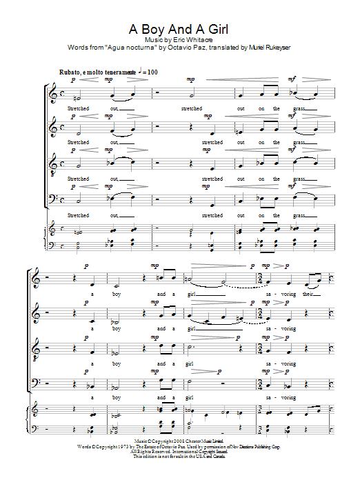 A Boy And A Girl Sheet Music
