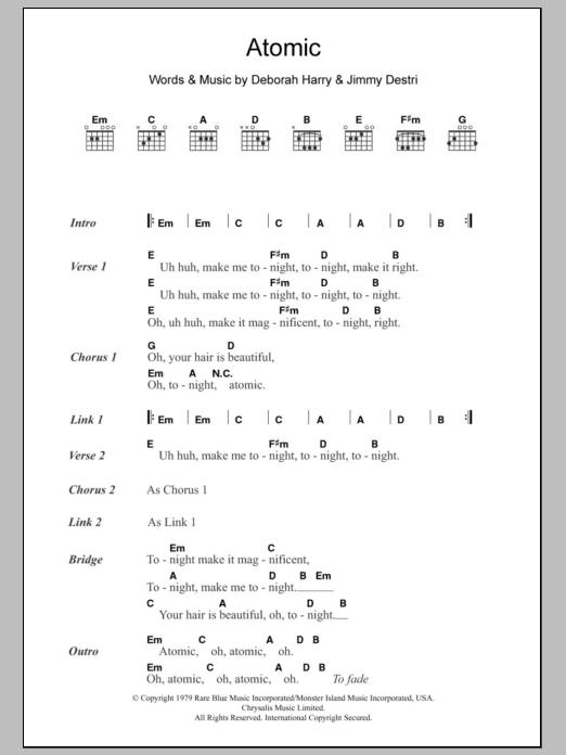 Atomic Sheet Music