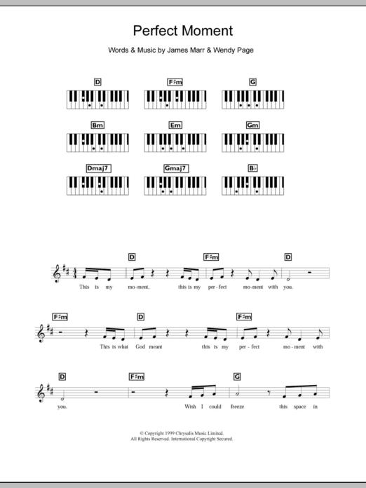 Perfect Moment Sheet Music