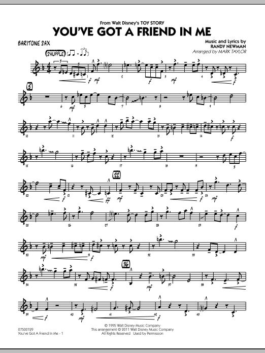 You've Got A Friend In Me (from Toy Story) (arr. Mark Taylor) - Baritone Sax (Jazz Ensemble)