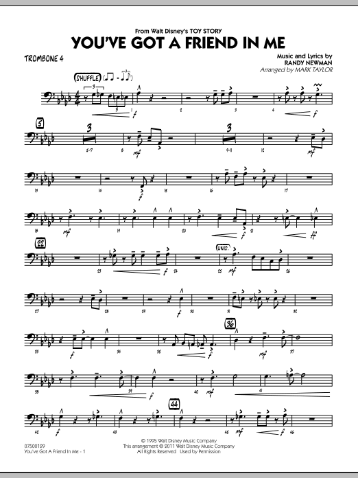 You've Got A Friend In Me (from Toy Story) (arr. Mark Taylor) - Trombone 4 (Jazz Ensemble)