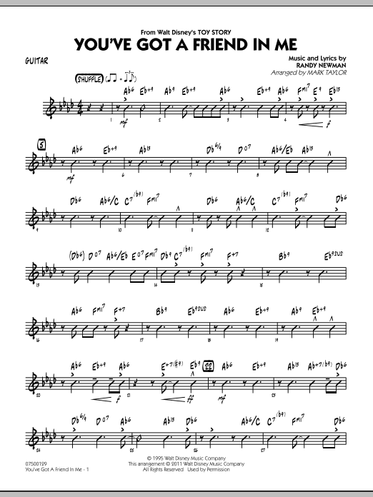 You've Got A Friend In Me (from Toy Story) (arr. Mark Taylor) - Guitar (Jazz Ensemble)