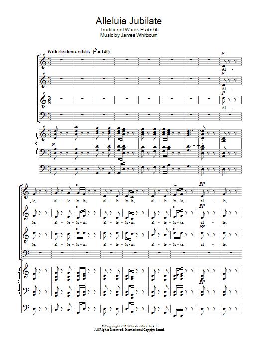 Alleluia Jubilate Sheet Music