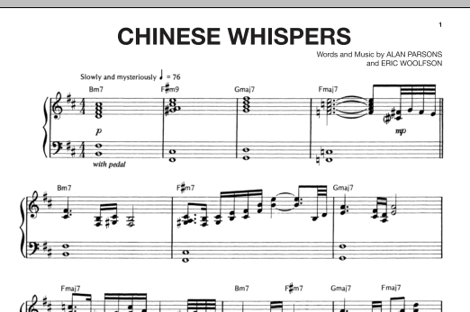 Chinese Whispers Sheet Music