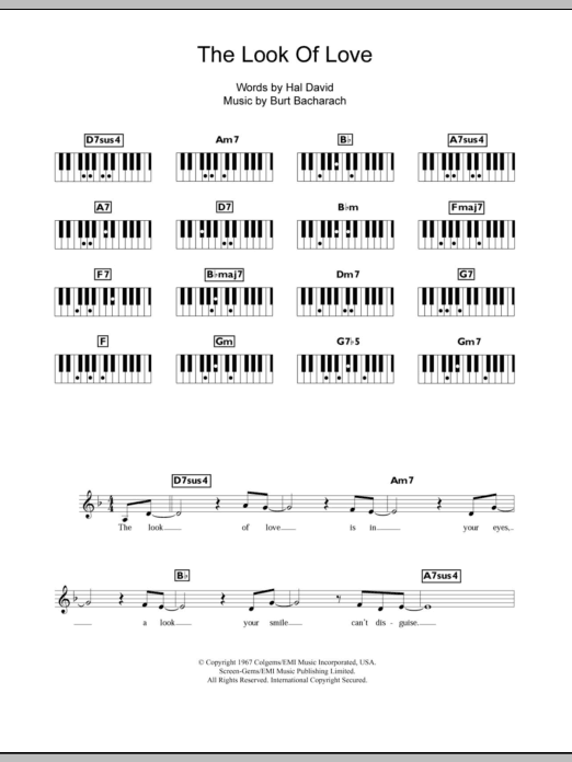 The Look Of Love Sheet Music Direct