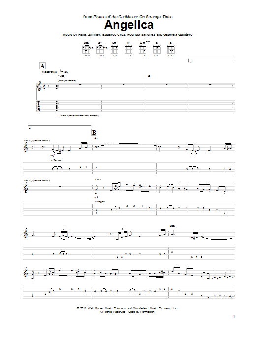 Angelica (Guitar Tab)