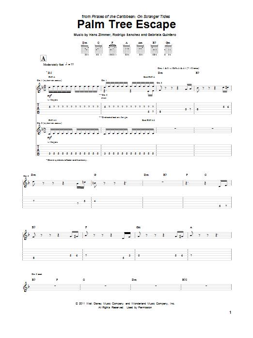 Palm Tree Escape (Guitar Tab)