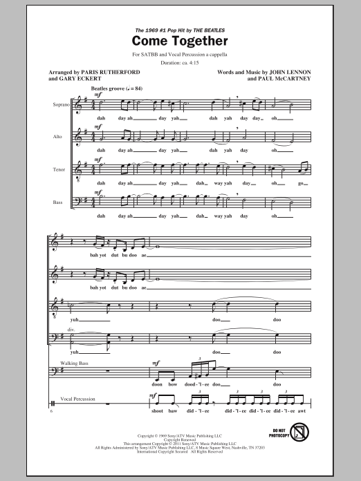 Come Together (arr. Paris Rutherford) Sheet Music