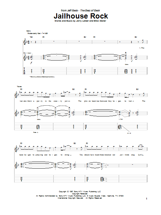 Jailhouse Rock Guitar Tab by Jeff Beck (Guitar Tab u2013 85756)