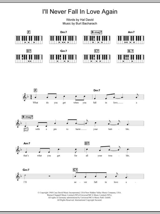 I'll Never Fall In Love Again (Piano Chords/Lyrics)