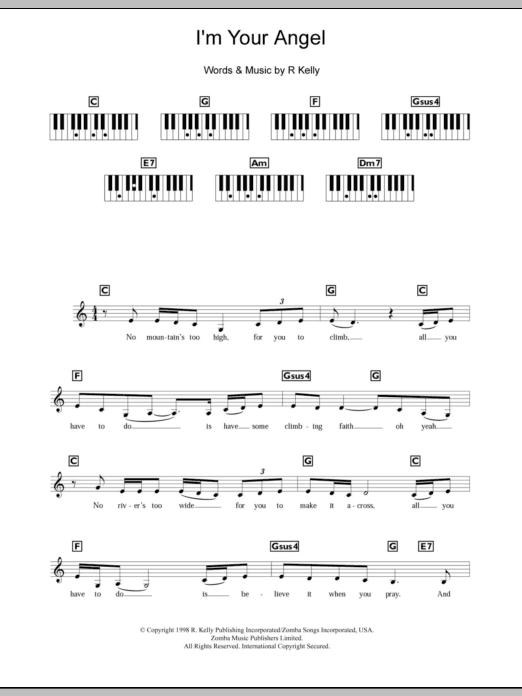 I'm Your Angel (Piano Chords/Lyrics)