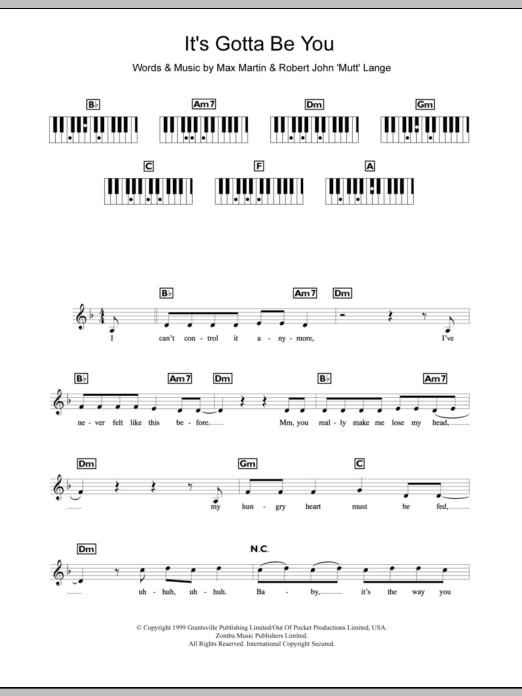 It's Gotta Be You Sheet Music