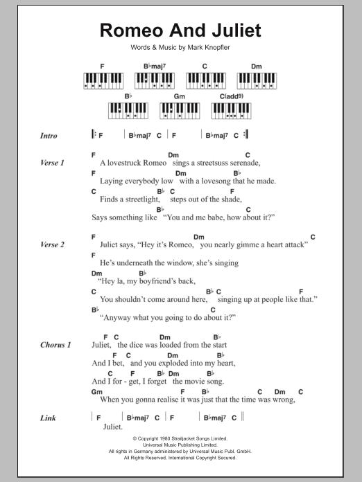 Romeo and juliet sheet music   dire straits   guitar tab.