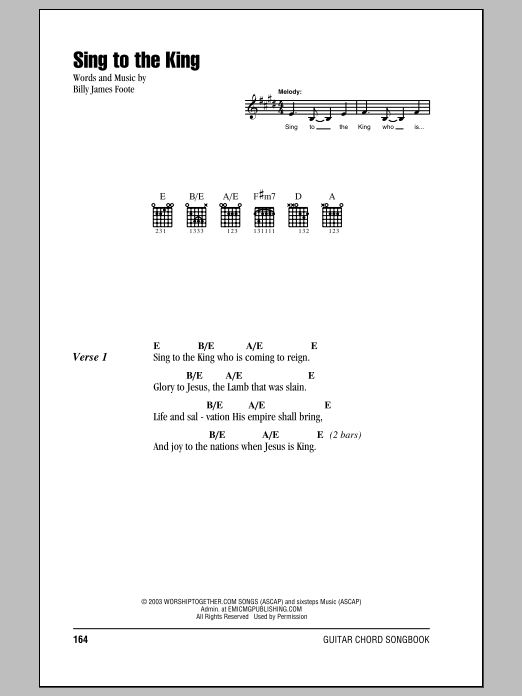 Sing To The King (Guitar Chords/Lyrics)