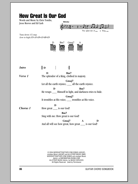 How Great Is Our God Sheet Music Direct