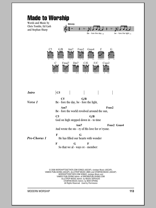 page one of Made To WorshipASALTTEXT