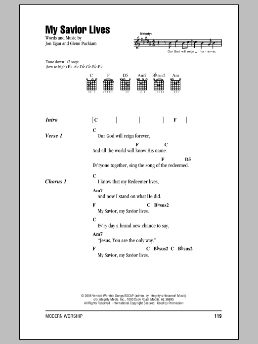 My Savior Lives Sheet Music