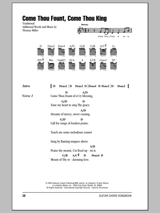 Come Thou Fount, Come Thou King Sheet Music