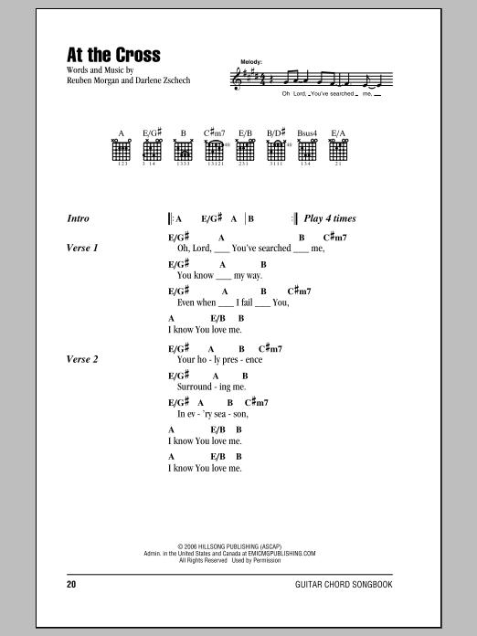 At The Cross Sheet Music