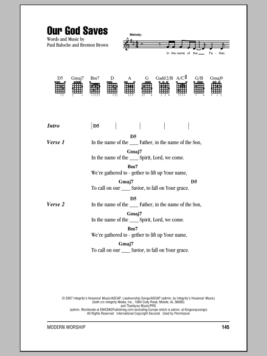 Our God Saves Sheet Music