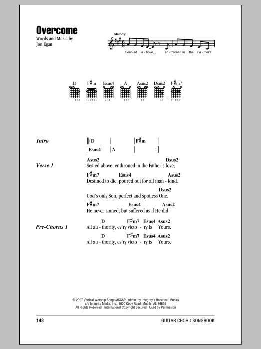 Overcome Sheet Music Direct