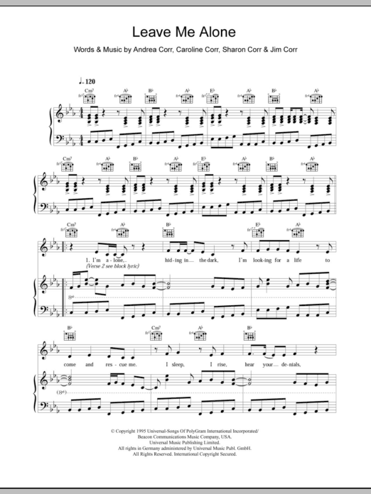 Leave Me Alone Sheet Music