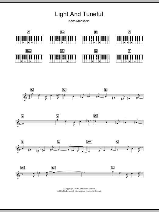 Light And Tuneful (Wimbledon Opening Theme) Sheet Music