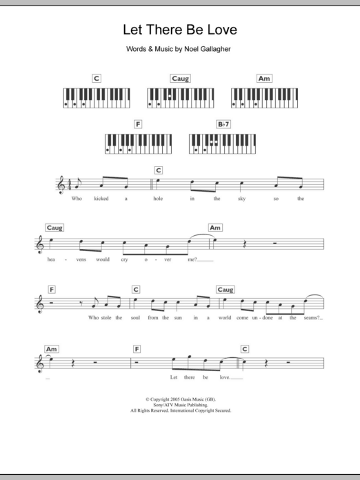 Let There Be Love : Sheet Music Direct