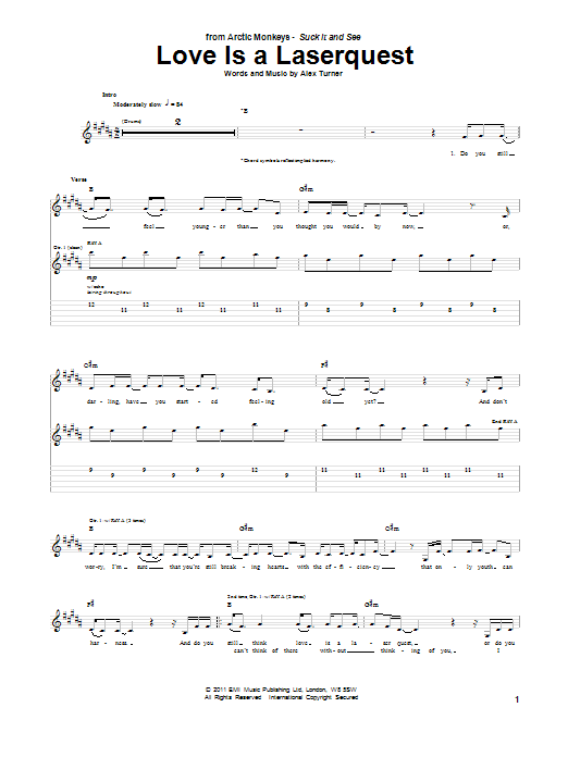 Love Is A Laserquest Sheet Music