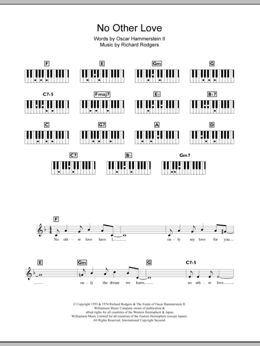 No Other Love Sheet Music
