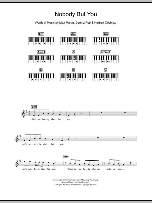 Nobody But You Sheet Music
