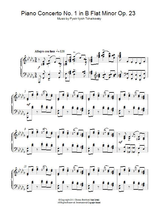 Piano Concerto No. 1 in B Flat Minor Op. 23 Sheet Music