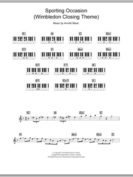 Sporting Occasion (Wimbledon Closing Theme) (Piano Chords/Lyrics)