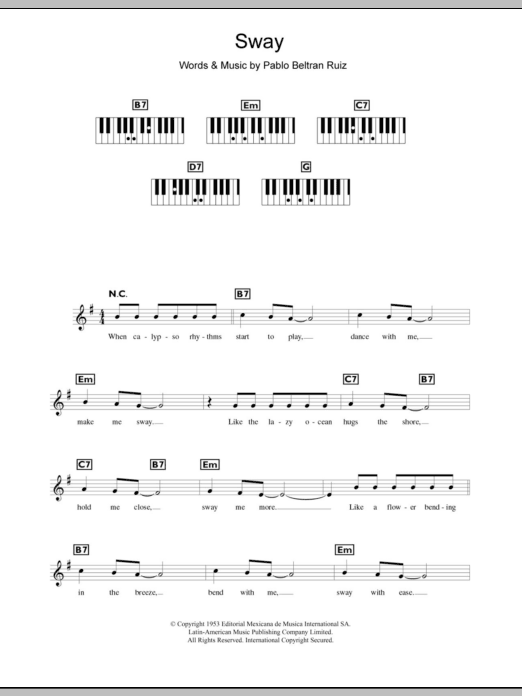 Sway (Quien Sera) | Sheet Music Direct