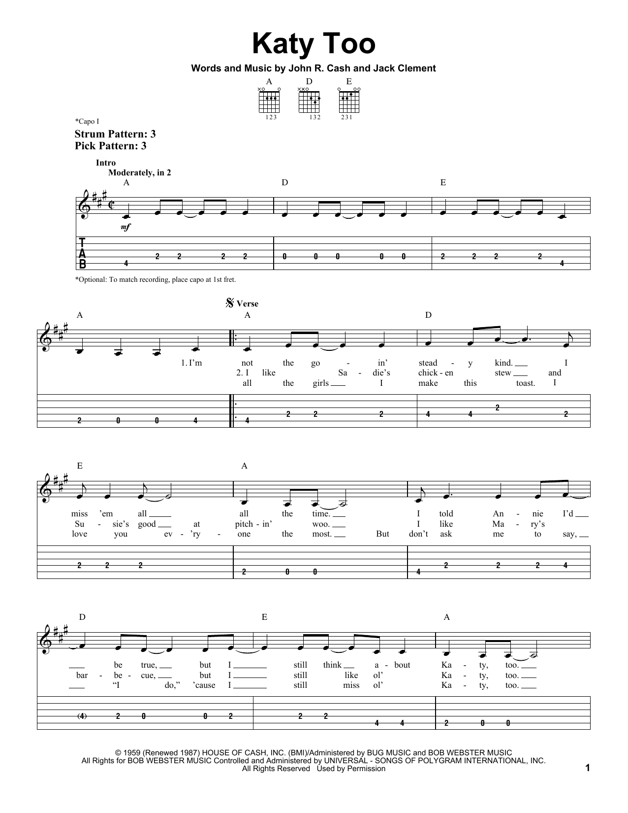 Katy Too Sheet Music