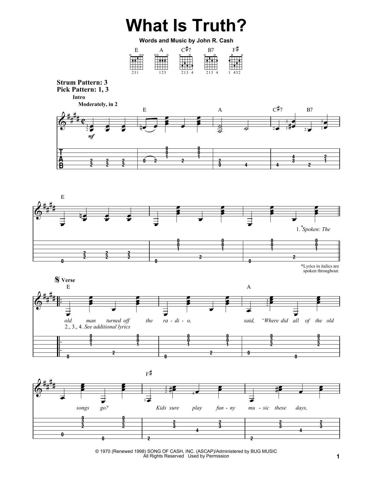 What Is Truth? Sheet Music