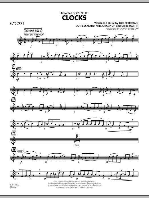 Clocks - Guitar by John Wasson, Guy Berryman, Will Champion, Chris ...