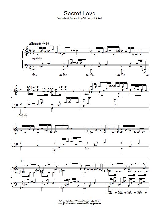 Secret Love (Piano Solo)