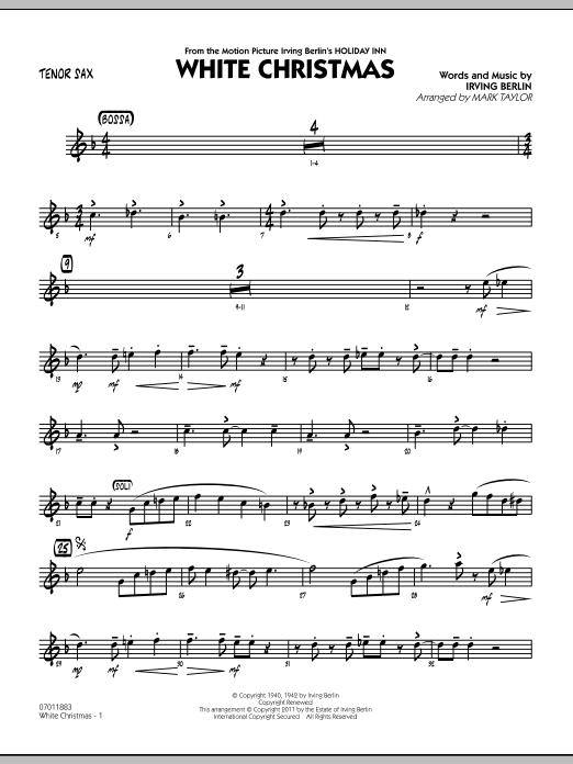 White Christmas - Tenor Sax (Jazz Ensemble)