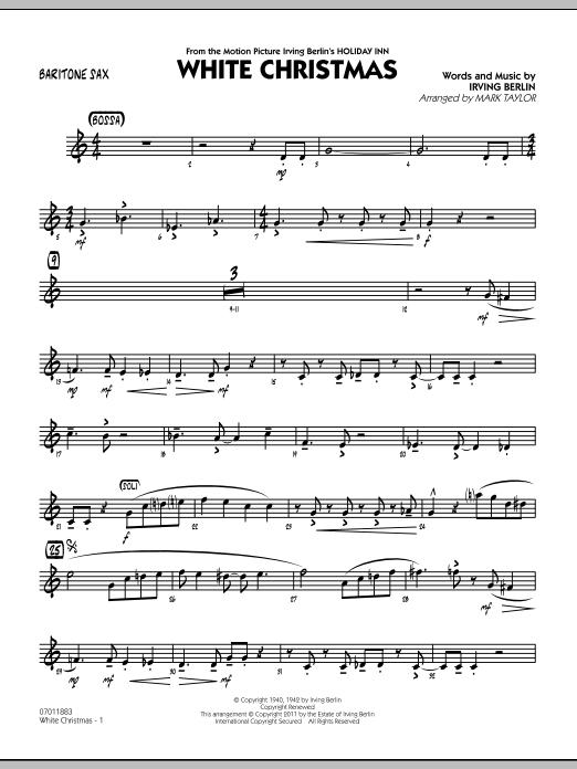 White Christmas - Baritone Sax (Jazz Ensemble)